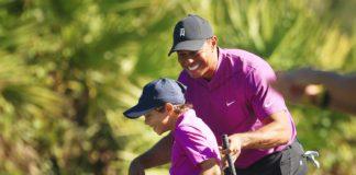Tiger a Charlie Woods - foto pgatour.com