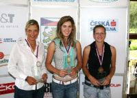 Sandra Gal (uprostřed) - Mistryně ČR 2007 na rány - foto Ivan Paggio